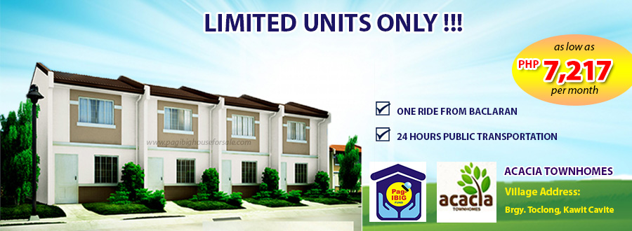 Acacia Townhomes – Pag-ibig Rent to Own Houses for Sale in Kawit Cavite