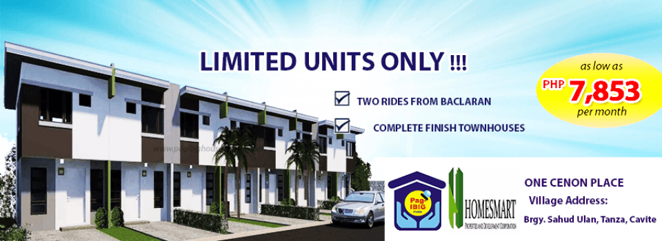one-cenon-place-pag-ibig-rent-to-own-houses-sale-tanza-cavite-facade