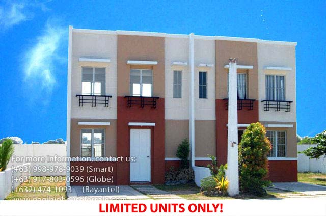 Parksville Residences Audrey Model  –  Pagibig Houses for Sale in Imus, Cavite