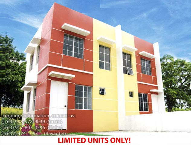 Parksville Residences Chesca Model  –  Pagibig Houses for Sale in Imus, Cavite