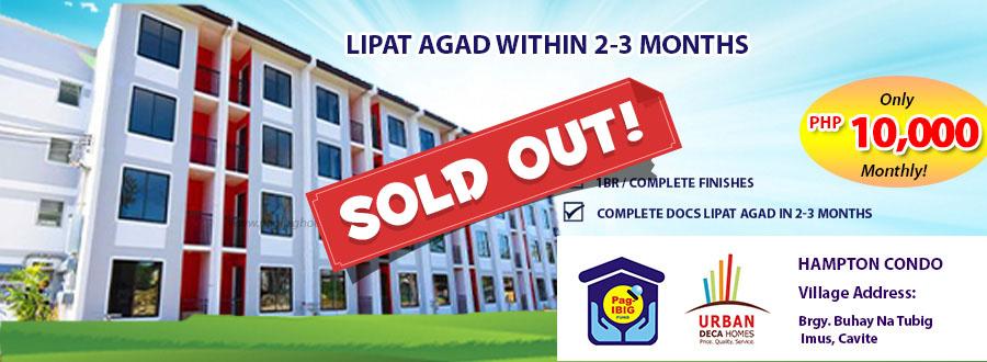 Hampton Condo 1BR - Pagibig Condo for Sale in Imus Cavite