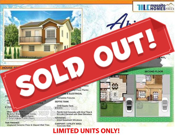 Masaito Homes Trece Abiea Model - Pag-ibig Rent to Own Houses for Sale in Trece Martires Cavite
