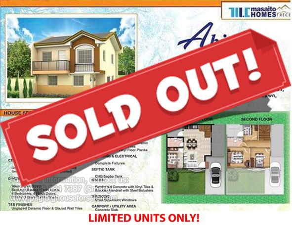 Masaito Homes Trece Abiea Model  –  Pagibig Houses for Sale in Trece Martires Cavite