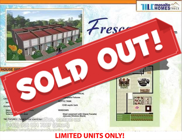 Masaito Homes Trece Fresca Model  –  Pagibig Houses for Sale in Trece Martires Cavite