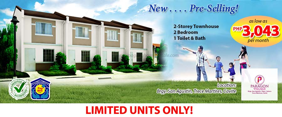 Paragon Village – Pag-ibig Rent to Own Houses for Sale in Trece Martires Cavite