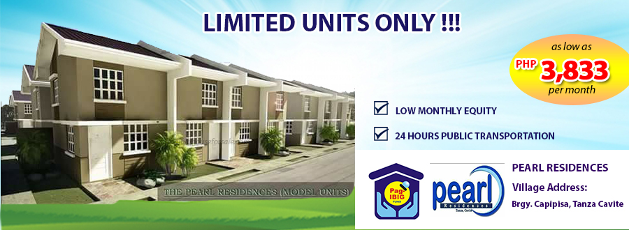 Pearl Residences - Pag-ibig Rent to Own Houses for Sale in Tanza Cavite