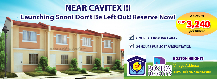 Boston Heights Townhouse – Pag-ibig Rent to Own Houses for Sale in Kawit Cavite