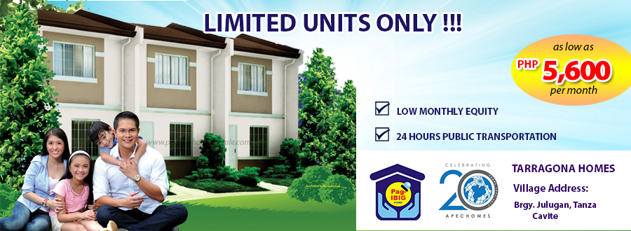 Tarragona Homes - Pag-ibig Rent to Own Houses for Sale in Tanza Cavite