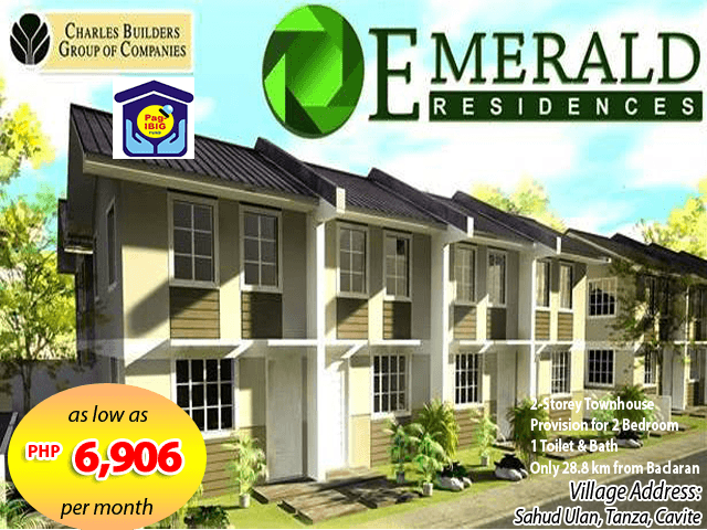 Emerald Residences – Pag-ibig Rent to Own Houses for Sale in Tanza, Cavite